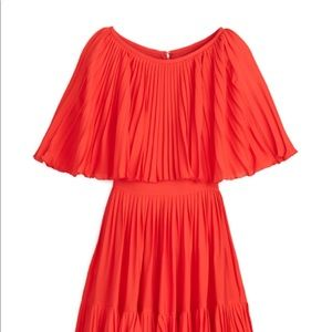 Kate Spade Pleated Cape Dress. Great 70's Vibes!!